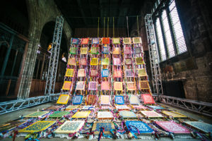 """The Blanket - Cristina Rodrigues Exhibition """" WOMEN FROM MY COUNTRY"""" at Manchester Cathedral photography by REZAKIO"""