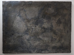 Road,182 X 243cm, Tar, Stones on wooden board, 2015